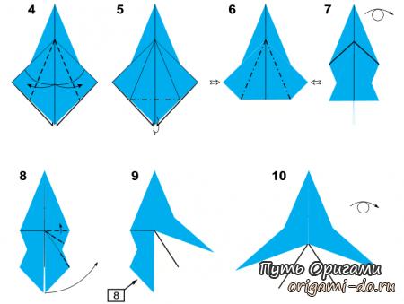Ангел из бумаги оригами