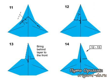 Оригами ангел по схеме Neal Elias