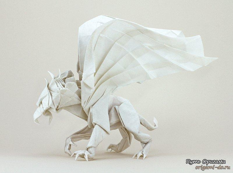 Оригами грифон – мистическое