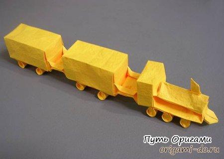 Бумажный поезд от Emmanuel Mooser
