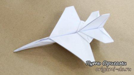 Схема Тадаши Мори – оригами истребитель F16