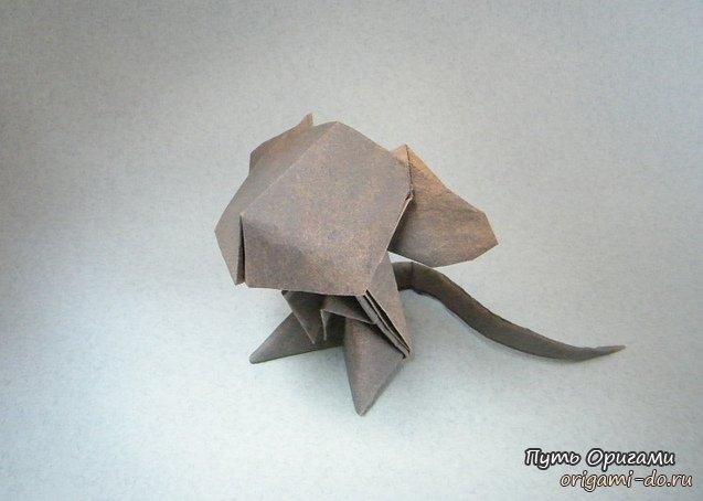 Оригами мышь от Jacky Chan
