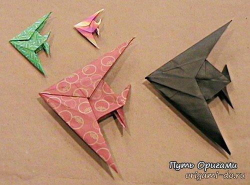 Оригами рыбка-скалярия, видео