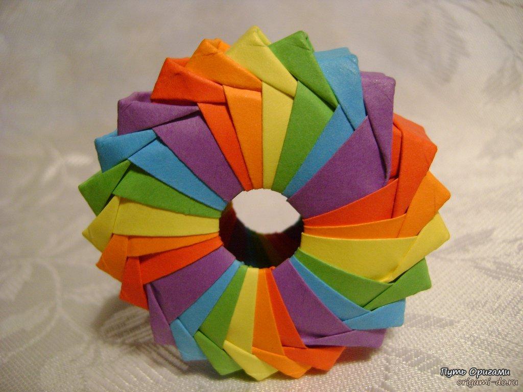 рамка из модулей оригами схема