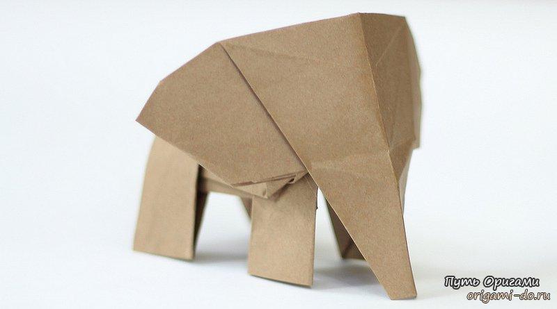 Оригами слоненок от Tadashi