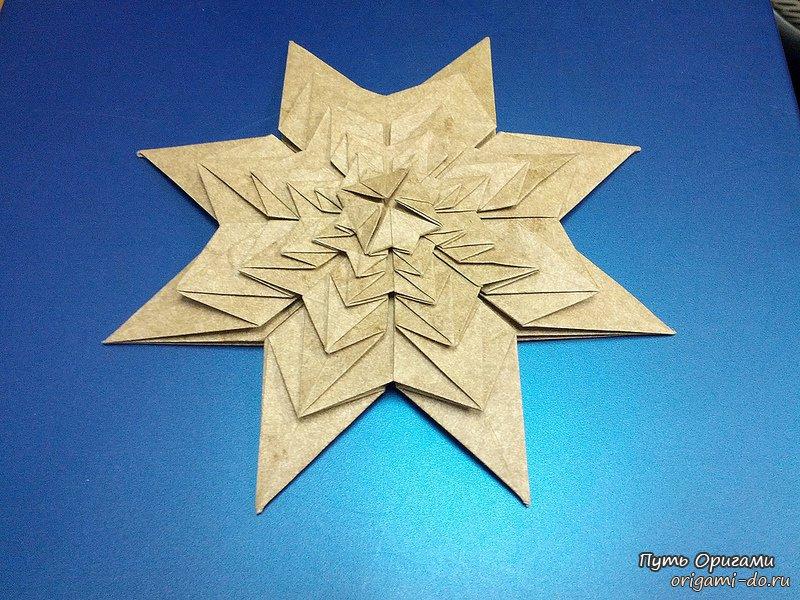 Оригами фрактал в виде