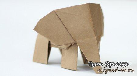 Оригами слоненок от Tadashi Mori