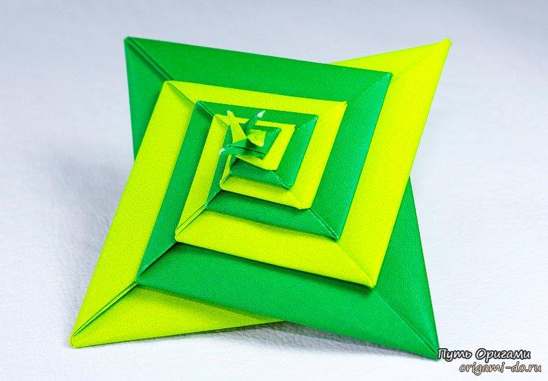 Интересные оригами спирали для