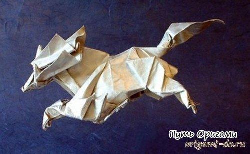 единорог в технике оригами