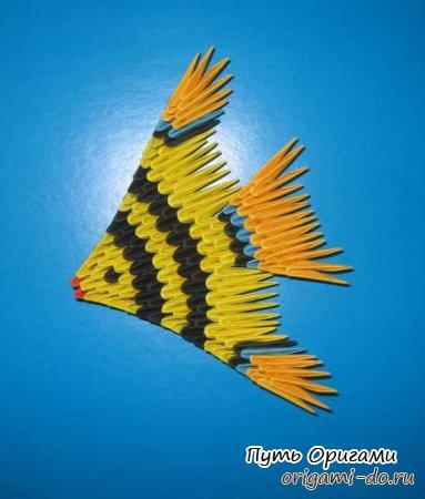 Модульное оригами – рыбка