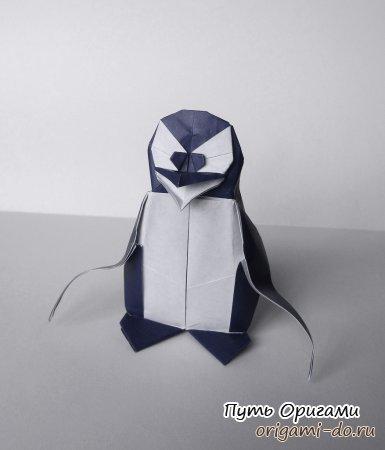 Оригами пингвин – видео урок по сборке