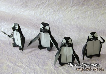 **Оригами пингвин – видео урок по сборке