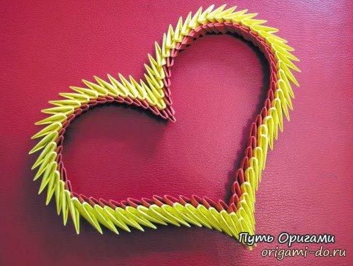 Сердечные оригами подарки для