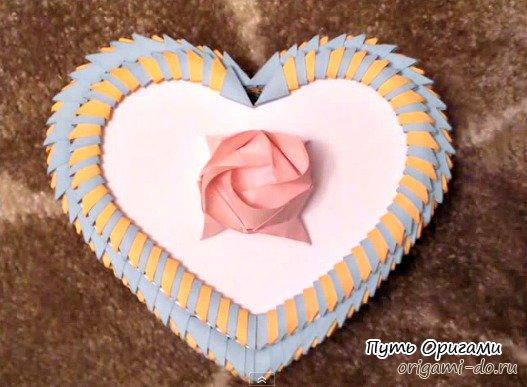 оригами сердца из модулей
