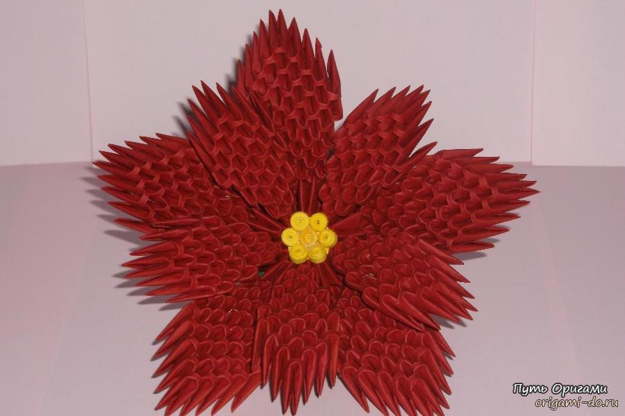 3D оригами - модульный цветок