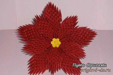 Упаковка подарка с цветком 66