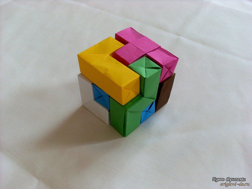 Поделки из геометрических фигур объемные своими руками фото 790