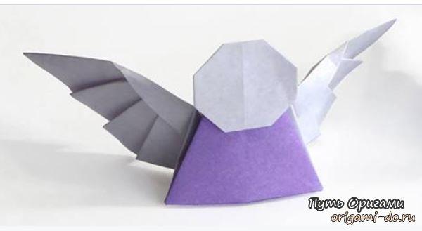 Простая сборка оригами ангела
