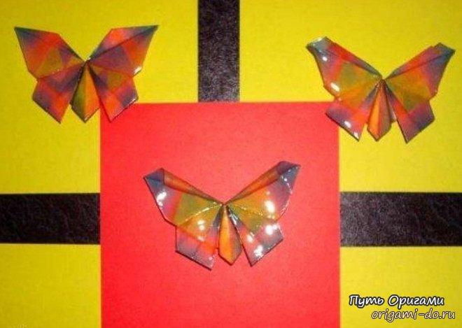 Бумажные бабочки оригами от