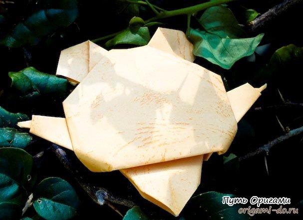 оригами морской конек