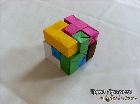 Схема сборки необычного куба от Жана Винсента