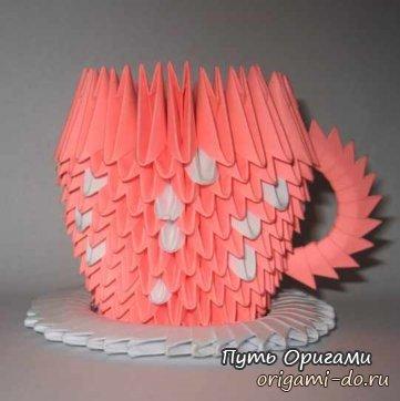 Чашка из треугольных модулей