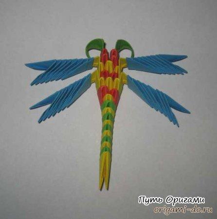 Как сделать стрекозу из модульного оригами