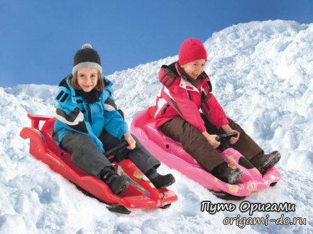 Зимний транспорт для ребят
